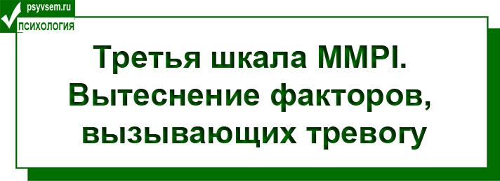 Тест MMPI Шкала 3